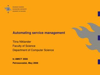 Automating service management