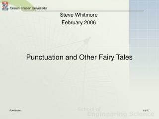 Punctuation and Other Fairy Tales