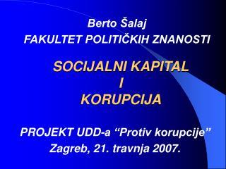 SOCIJALNI KAPITAL I KORUPCIJA