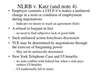 NLRB v. Katz and note 4