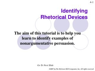 Identifying  Rhetorical Devices