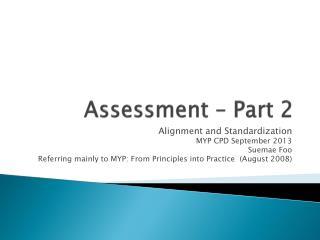 Assessment – Part 2