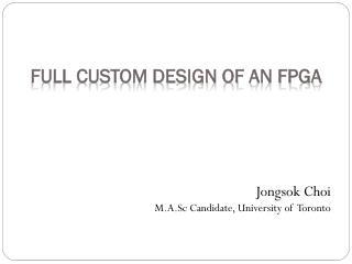 Full custom design of  aN fpga