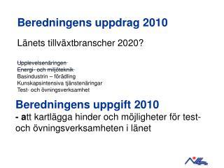 Beredningens uppdrag 2010