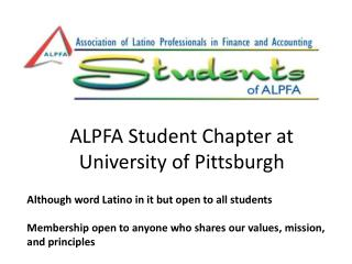 ALPFA Student Chapter at University of Pittsburgh