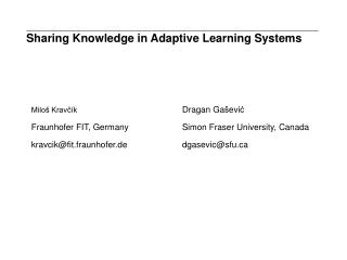Sharing Knowledge in Adaptive Learning Systems
