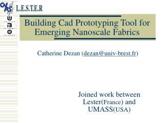 Building Cad Prototyping Tool for Emerging Nanoscale Fabrics