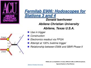 Fermilab E906: Hodoscopes for Stations 3 and 4