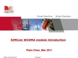 SIMCom WCDMA module introduction