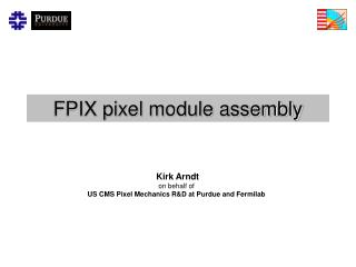 FPIX pixel module assembly