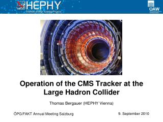 Operation of the CMS Tracker at the Large Hadron Collider