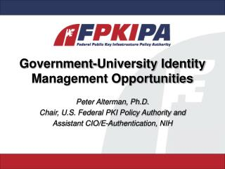 Government-University Identity Management Opportunities