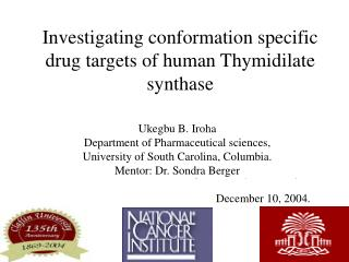 Investigating conformation specific drug targets of human Thymidilate synthase