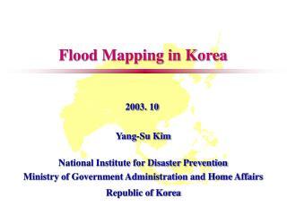 Flood Mapping in Korea