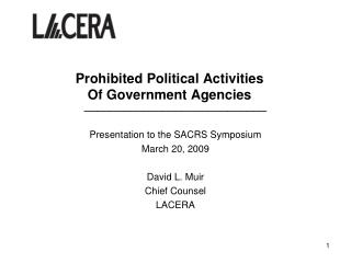 Prohibited Political Activities Of Government Agencies
