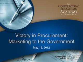 Victory in Procurement: Marketing to the Government