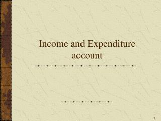 Income and Expenditure account
