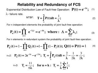 Reliability and Redundancy of FCS