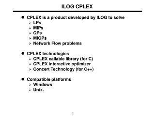 ILOG CPLEX