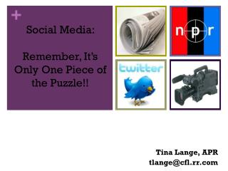 Social Media:  Remember, It's Only One Piece of the Puzzle!!