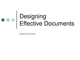 Designing  Effective Documents