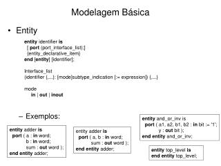 Modelagem Básica
