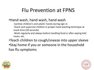 Flu Prevention at FPNS