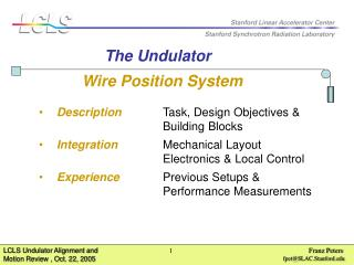 Wire Position System