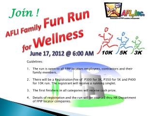 AFLI Family Fun Run  for  Wellness