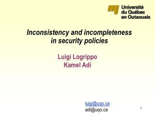 Luigi Logrippo Kamel Adi