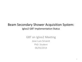 Beam Secondary Shower Acquisition System: Igloo2 GBT Implementation  Status