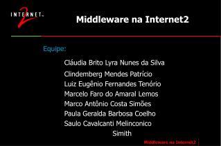 Middleware na Internet2
