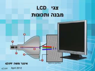 צגי   LCD מבנה ותכונות