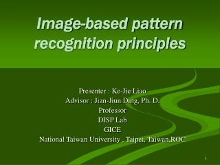 Image-based pattern recognition principles