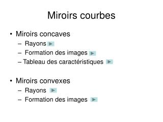 Miroirs courbes