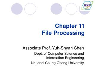 Chapter 11 File Processing