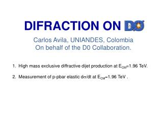 DIFRACTION ON