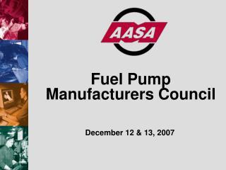 Fuel Pump Manufacturers Council