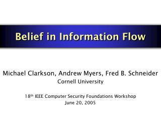 Belief in Information Flow