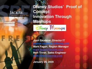 The Need for Mashups at Disney Studios