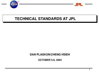 TECHNICAL STANDARDS AT JPL