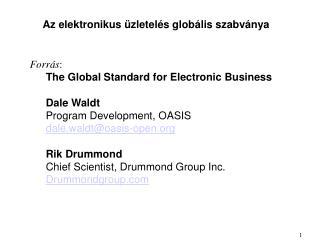 Az elektronikus üzletelés globális szabványa