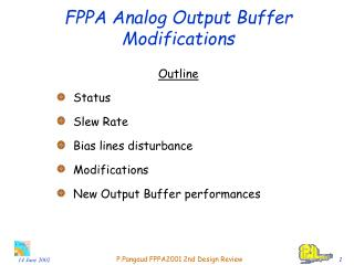FPPA Analog Output Buffer Modifications
