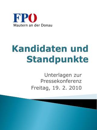 Kandidaten und Standpunkte