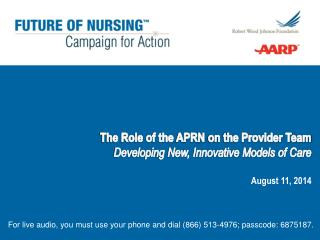 The Role of the  APRN  on the Provider Team Developing New, Innovative Models of Care