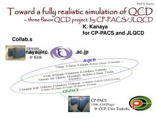 Toward a fully realistic simulation of QCD – three flavor QCD project  by CP-PACS/JLQCD K. Kanaya