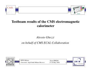 Testbeam results of the CMS electromagnetic calorimeter