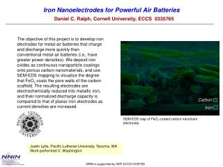 Iron Nanoelectrodes for Powerful Air Batteries