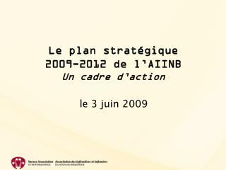 Le plan stratégique  2009-2012 de l'AIINB  Un cadre d ' action