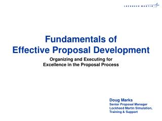 Fundamentals of Effective Proposal Development
